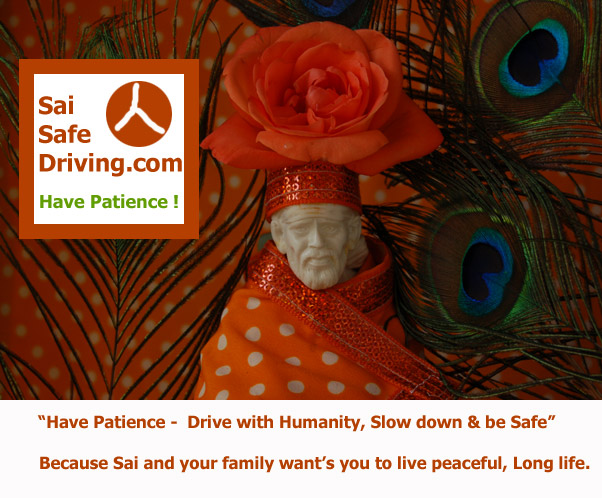 Shirdi Sai Baba safe driving